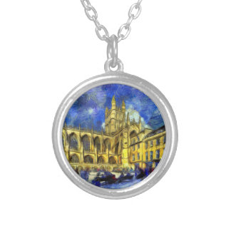 Bath Abbey Art Silver Plated Necklace