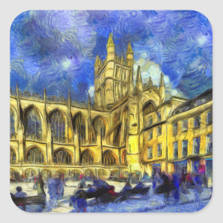 Bath Abbey Art Square Sticker