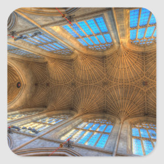 Bath Abbey Ceiling Square Sticker