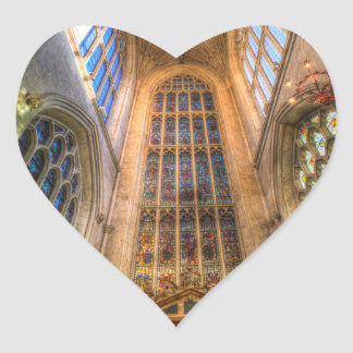 Bath Abbey Heart Sticker