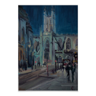 Bath Abbey painting Poster