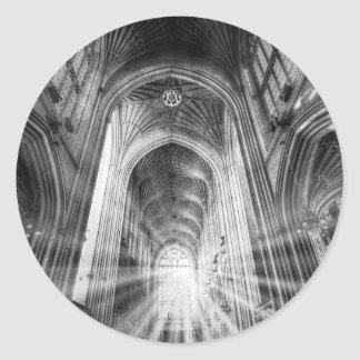 Bath Abbey Sun Rays Classic Round Sticker