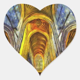 Bath Abbey Van Gogh Heart Sticker