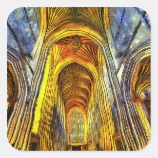 Bath Abbey Van Gogh Square Sticker