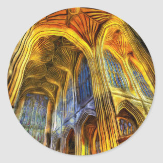 Bath Abbey Vincent Van Gogh Classic Round Sticker