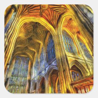 Bath Abbey Vincent Van Gogh Square Sticker