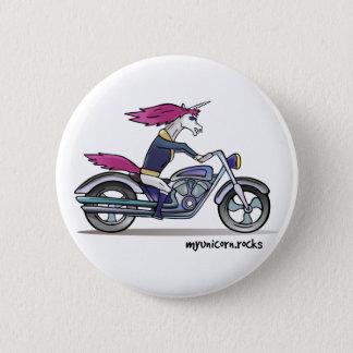Bath ASS unicorn on motorcycle - bang-hard unicorn 2 Inch Round Button