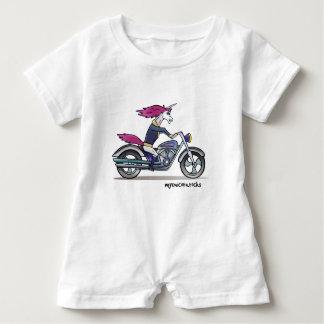 Bath ASS unicorn on motorcycle - bang-hard unicorn Baby Romper