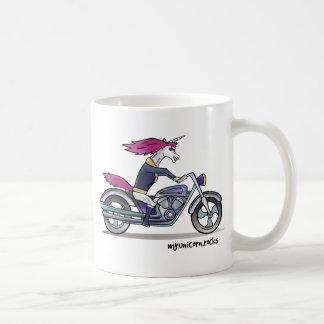 Bath ASS unicorn on motorcycle - bang-hard unicorn Coffee Mug