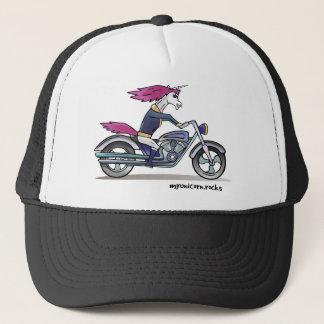 Bath ASS unicorn on motorcycle - bang-hard unicorn Trucker Hat