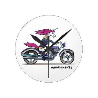 Bath ASS unicorn on motorcycle - bang-hard unicorn Wallclock