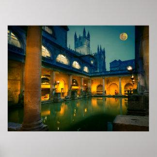 Bath at night poster