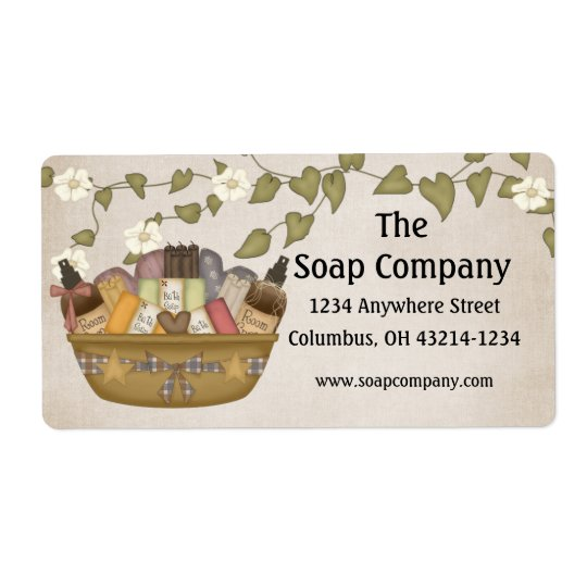Bath & Body Gift Basket Return Address Labels