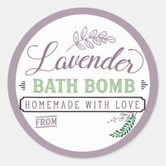 Bath Bomb Label Lavender