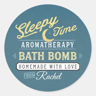 Bath Bomb Label Sticker Sleepy Time