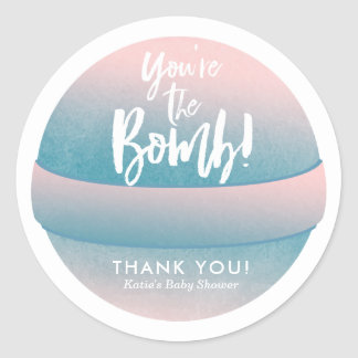 Bath Bomb Stickers Shower Favor Stickers