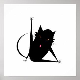 Bath Cat Poster