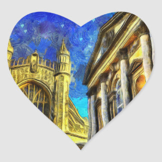 Bath City Van Gogh Heart Sticker