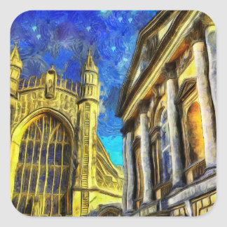 Bath City Van Gogh Square Sticker