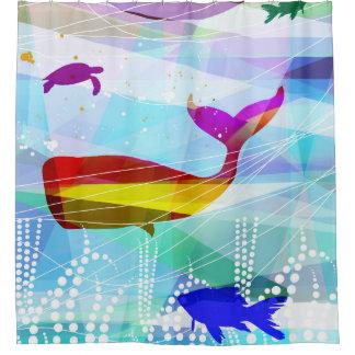 bath curtain whale