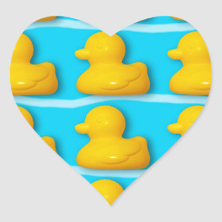 Bath Ducks Heart Sticker