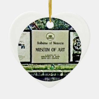 Bath England1986 0064a2 jGibney The MUSEUM Zazzle Ceramic Heart Ornament