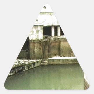 Bath England 1986 Roman Bath1b snap-14067 jGibney Triangle Sticker