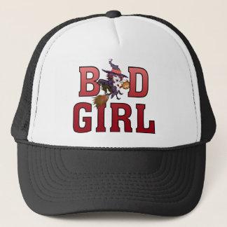 bath girl halloween witch trucker hat