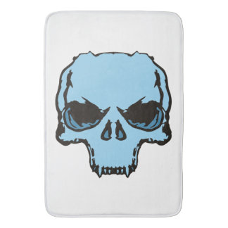 bath mat Blue Skull