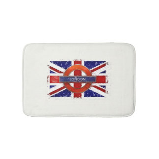 Bath mat. England, Union Jack, Grunge flag Bath Mat