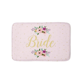 Bath Mat - Floral Bride Pink