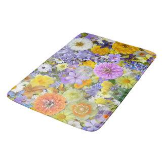 Bath Mat - Flowers and Butterflies