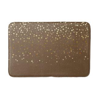 Bath Mat-Golden shower of Stars-Cafe Brown Bath Mat