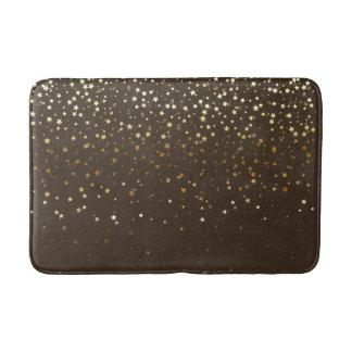 Bath Mat-Golden shower of Stars-Espresso Bath Mat