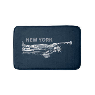 Bath mat. Liberty, Statue of Liberty, New York, Bath Mat