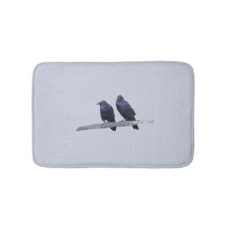 Bath mat w/ ravens
