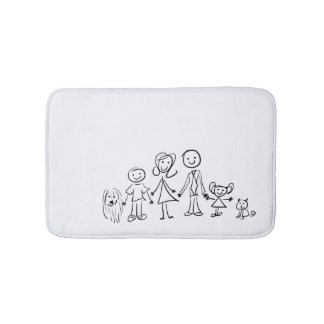 Bath Mat - We are six in my family