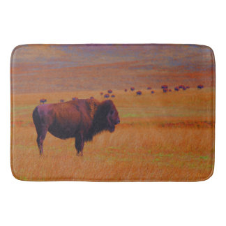 Bath Mat Western Buffalo Wildlife