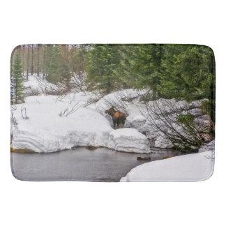 Bath Mat Western Moose Wildlife