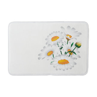 Bath Mat with chamomile flowers.