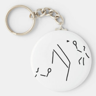 bath min tone federball player basic round button keychain