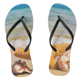 Bath sandals Flip flop starfish