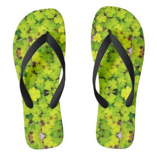 Bath sandals - luck clover