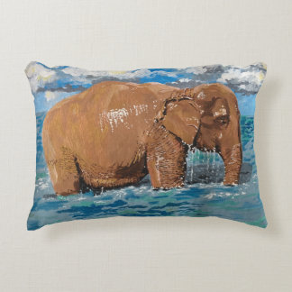 Bath time! decorative pillow