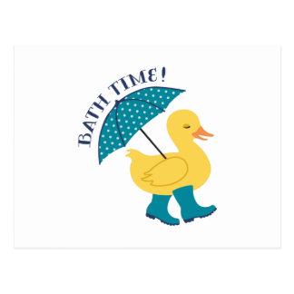 Bath Time Duck Postcard