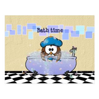 bath time fun postcard