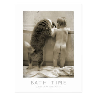 Bath Time Postcard