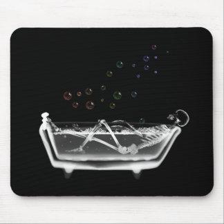 Bath Tub X-Ray Skeleton - Rainbow Bubbles Mouse Pad