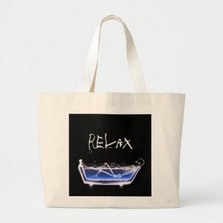 BATH TUB X-RAY VISION SKELETON - ORIGINAL LARGE TOTE BAG