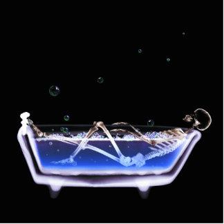BATH TUB X-RAY VISION SKELETON - ORIGINAL STANDING PHOTO SCULPTURE